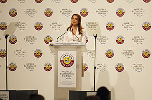 English: H.M. Queen Rania Al Abdullah of the H...