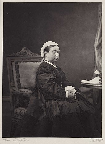 Queen Victoria in 1870, three years after her Royal Assent to the British North America Act, creating the Canadian federation Queen Victoria, c.1870. (7936242480).jpg