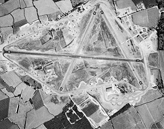 RAF Andrews Field - Wartime photo of Andrews Field, taken on 4 September 1943.  Numerous B-26 Marauders of the 322d Bomb Group are on the hardstands surrounding the airfield.