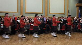 Burns supper - Piping in the haggis
