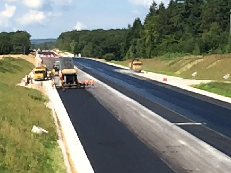 Travaux de prolongement de la Route nationale 19 à quatre voix en direction de Vesoul au départ de Lure.