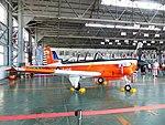 ROCAF T-34C 3405 Display in Hangar of Gangshan Air Force Base 20170812.jpg