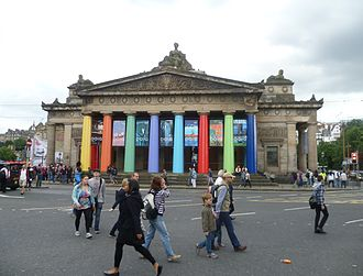 Edinburgh International Festival - Royal Scottish Academy building decorated for the Festival in 2013