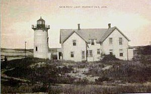 Race Point Light - 1911 postcard