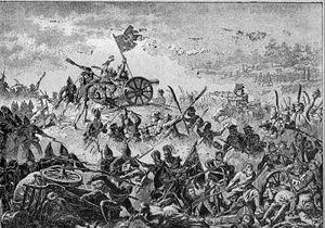 Battle of Racławice - Battle of Racławice on a 19th-century sketch by Michał Stachowicz