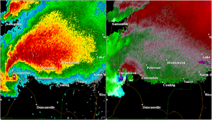 Radar image of the 2011 Tuscaloosa tornado April 27, 2011 2210Z.png