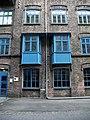 Radevormwald-Dahlerau, Textilstadt Wülfing, Verwaltungsgebäude, Fassadenausschnitt 1.jpg