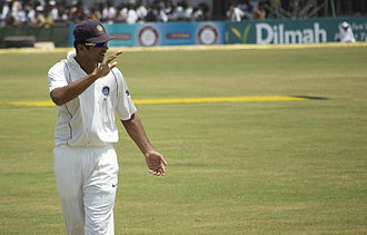 Rahul Dravid - Dravid fielding during a Test match against Sri Lanka in Galle in 2008.