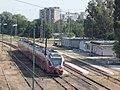 Railway station building and MÁV 5341, 2018 Oroszlány.jpg
