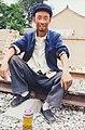 Railway worker in Shanxi Province (China) (40359181393).jpg