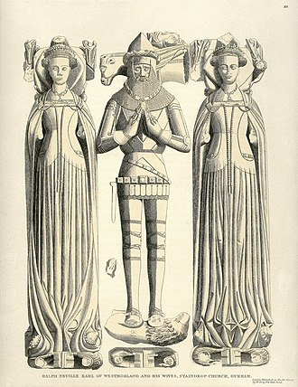 Ralph Neville, 1st Earl of Westmorland - Effigy of Ralph Neville, 1st Earl of Westmorland and his two wives, Staindrop Church