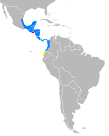 Range map Tapirus bairdii with borders.png