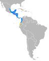 Range map Tapirus bairdii with borders.png