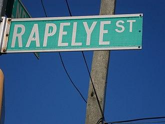 Joris Jansen Rapelje - Rapelye Street sign