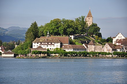 Capuchin monastery as seen from Lake Zürich