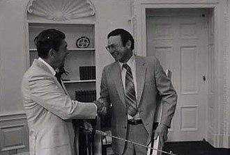 Don Young - Young greeting President Ronald Reagan in 1981