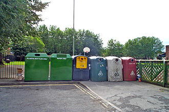 Recycling bin - Recycle station in Oxford, England