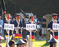 Red-faced dancers after 2006 Aizu parade.JPG