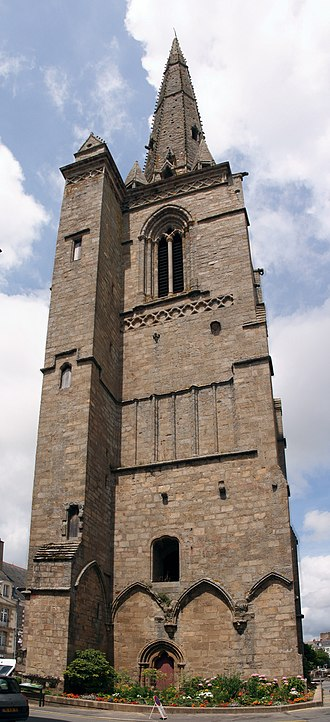 Redon Abbey - Gothic bell tower (2009)