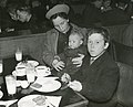 Refugees from northern Norway at the Central train station restaurant in Stockholm.jpg