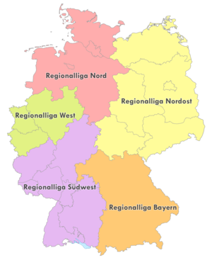 Regionalliga Südwest - The Regionalligas from 2012 onwards.