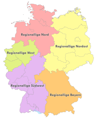 Regionalliga Nordost - The Regionalligas from 2012 onwards.
