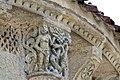 Reich geschmückt, die romanische Apsis (12. Jahrhundert) der Kirche Saint-Vivien-de-Medoc. 23.jpg