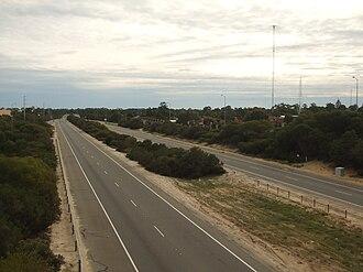 Reid Highway - View from Wanneroo Road, facing west