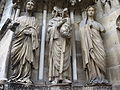 Reims cathedral, portal statue Saint Nicasius.jpg