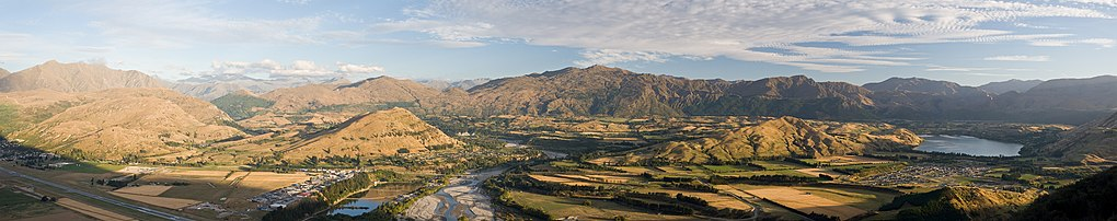 Panoramic view from the Remarkables mountain range.