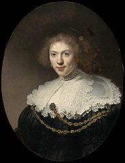 Portrait of a Woman Wearing a Gold Chain
