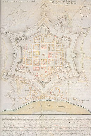 George Khevenhüller - Karlovac fortress, 18th century map