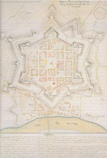 カルロヴァツ要塞 クロアチア 1774年