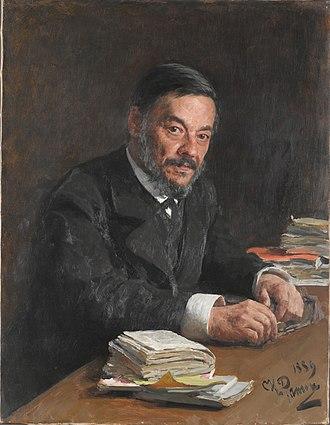 Ivan Sechenov - Portrait of Ivan Sechenov by Ilya Repin.