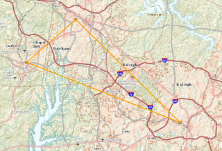 Research Triangle geographic region
