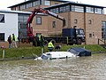 Retrieving a sunken boat from the Foss Dyke - geograph.org.uk - 1712480.jpg