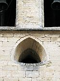 Reuleaux triangle shaped window of église Saint-Didier, Avignon.jpg