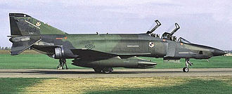 "Shaw Air Force Base - McDonnell RF-4C-34-MC Phantom II, AF Serial No. 67-0436, of the 16th Tactical Reconnaissance Squadron, October 1986. Note the NATO European camouflage schema, ""SW"" tail code and low visibility USAF markings. This was one of the last RF-4Cs flown by the 363d TFW before their retirement in 1989."