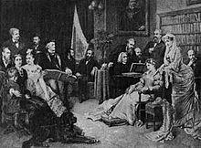 Richard Wagner im Haus Wahnfried; am Klavier Franz Liszt (Quelle: Wikimedia)
