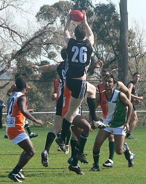 Australian rules football in New Zealand - Image: Richard bradley high mark new zealand