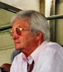 A side shot of Richie Benaud