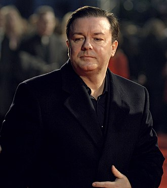 Ricky Gervais - Gervais at the 60th British Academy Film Awards in 2007