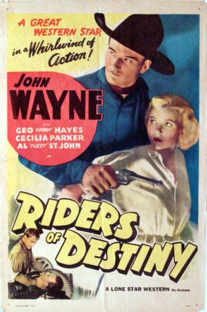 Riders of Destiny - Theatrical poster
