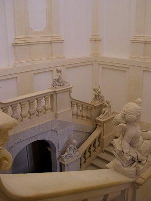 Royal Palace of Riofrío - Main staircase.
