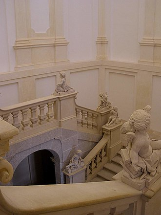 Royal Palace of Riofrío - Main staircase.