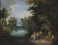 River Landscape with Peasants (Adrian van Stalbemt) - Nationalmuseum - 17681.tif