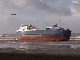 MS Riverdance - Riverdance beached at Blackpool