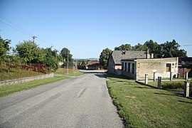 Road near center in Veselý Žďár, Havlíčkův Brod District.jpg