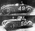 Robert Sénéchal-Albéric Loqueheux (49) et Raymond Glaszmann-Manso de Zuniga (50),vainqueurs des coupes bi- et triennales pour Chenard et Walker (24 heures du Mans 1925).jpg
