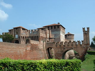castle in Soncino, Italy